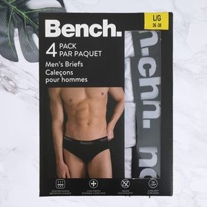 Bench 4 pack men's briefs size LG. NEW!